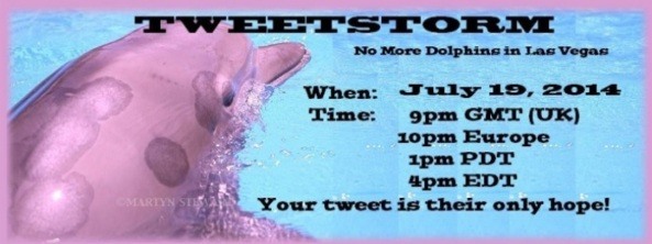 Join the Tweetstorm now: Free the Mojave Dolphins From the Mirage Hotel! Your Tweet is their only hope!
