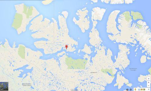 Figure 1. Cambridge Bay, courtesy Google maps.