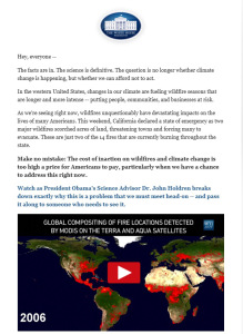 E-mail screenshots