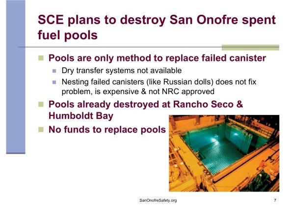 """Dry Storage of Spent Nuclear Fuel Problems and Solutions"""", by Donna Gilmore SanOnofreSafety.org, May 17, 2015 , p. 7"""