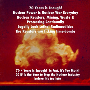 70 Years is Enough Campaign:  Nuclear Energy is Nuclear War Everyday