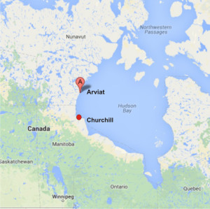 Arviat with Churchill_Google maps