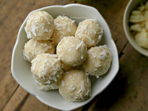 Raw White Chocolate Lemon Macaroons - Vegan, Gluten Free, Grain Free, Refined Sugar Free