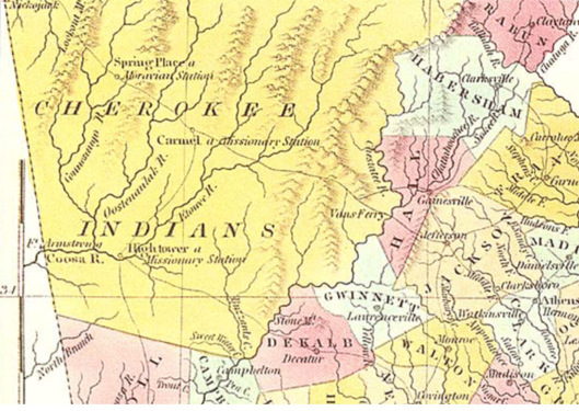 Cherokee Indians Georgia Map