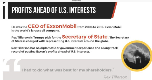 Tillerson: Exxon Profits Ahead of US Interests, Greenpeace.org zoom