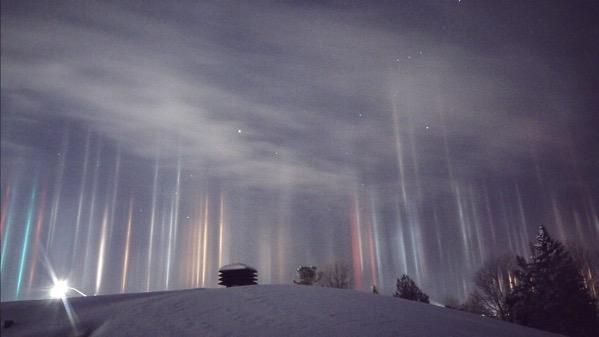 Light pillars ontario