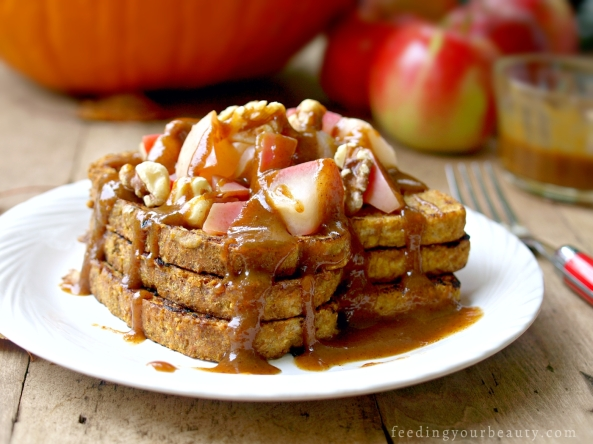 Pumpkin French Toast - Vegan, Gluten Free Option, Egg Free, Dairy free